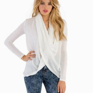 twisted white sweater